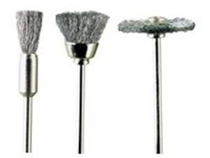 Immagine di PG mini - 3 spazzole acciaio assortite