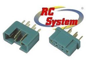 Immagine di RC System - Connettore 6 PIN maschio + femmina