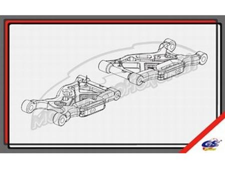 Immagine di GS Ricambi - Bracci anteriori inferiori GS Storm CLX