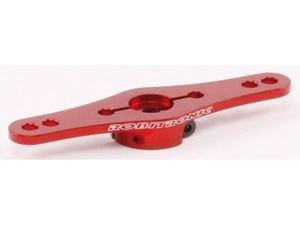 Immagine di Robitronic - Squadretta servo doppio braccio in alluminio 25Z (1-livello) Rosso