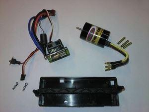 Immagine di Jamara - Set Car Brushless Per modelli 1/10 - Motore + regolatore +box batterie