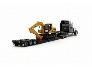 Immagine di CAT- Camion PETERBILT 389 con Lowboy King Trail e Cat L 315C Escavatore scala 1:87