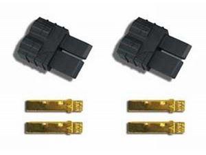 Immagine di Traxxas - connettori HV - Maschi per regolatore/caricabatterie (pz 2)