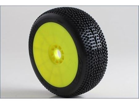 Immagine di AKA - Coppia di gomme 1:8 Buggy IMPACT Super Soft incoll. cerchi EVO