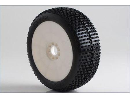 Immagine di AKA - Coppia di gomme 1:8 Buggy I-BEAM Super Soft incoll. cerchi EVO