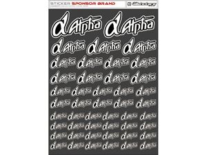 Immagine di RCALLSTICKERS - ALPHA BRAND DECAL SHEET WHITE