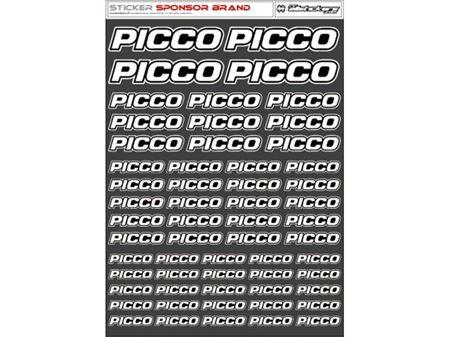 Immagine di RCALLSTICKERS - PICCO BRAND DECAL SHEET WHITE