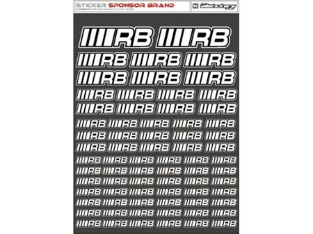 Immagine di RCALLSTICKERS - RB BRAND DECAL SHEET WHITE