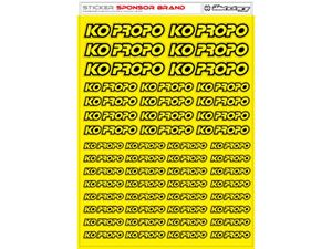 Immagine di RCALLSTICKERS -  KO PROPO BRAND DECAL SHEET FLU YELLOW