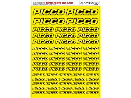 Immagine di RCALLSTICKERS -  PICCO BRAND DECAL SHEET FLU YELLOW