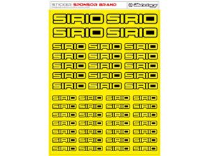 Immagine di RCALLSTICKERS -  SIRIO BRAND DECAL SHEET FLU YELLOW