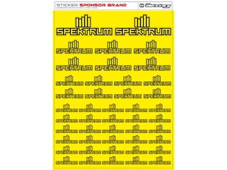 Immagine di RCALLSTICKERS - SPEKTRUM BRAND DECAL SHEET FLU YELLOW