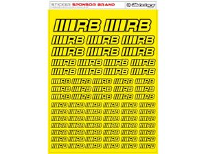 Immagine di RCALLSTICKERS - RB BRAND DECAL SHEET FLU YELLOW