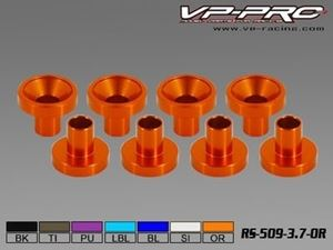 Immagine di VP-Pro - Rondelle in Alluminio per fissaggio Servocomandi (Pz.8)  orange