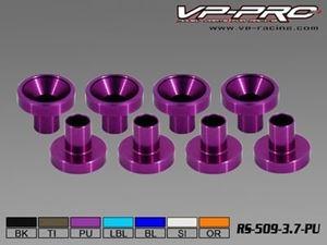 Immagine di VP-Pro - Rondelle in Alluminio per fissaggio Servocomandi (Pz.8) (purple)