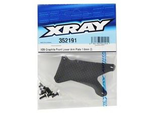 Immagine di Ricambi Xray XB9 -  Graphite Front Lower Arm Plate Set 1.6mm (2)