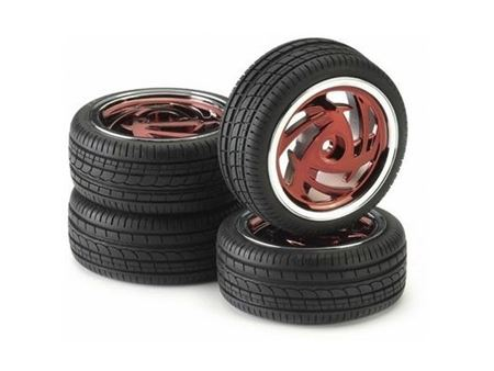 Immagine di Ansmann Racing -  SET GOMME (4Pz) 1:10 ON ROAD Set Ronin Red Chrome