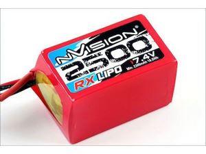 Immagine di NVISION - Batteria LiPo RX 2500 7,4V Hump LiPo w/Uni Plug