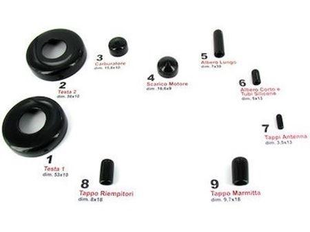 Immagine di JETS- Kit Completo tappi protezione motore Cappucci PVC+scatola.12pz