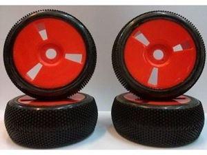 Immagine di VP Pro - Treno gomme Turbo Trax incollate su cerchi Rossi