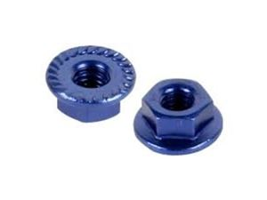 Immagine di Team Titan -  flange serrated wheel nut M4 Blu (pz.5)