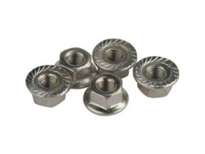 Immagine di Team Titan -  flange serrated wheel nut M4 Silver (pz.5)