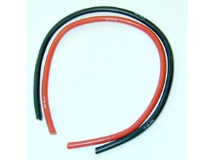 Immagine di Cavo silicone  18 AWG nero + rosso Cm.20 + 20