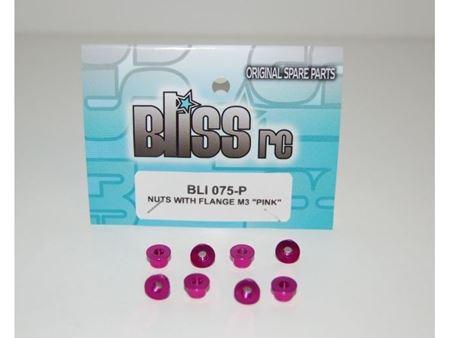 Immagine di BlissRC - Dado autobloccante M3 Flangiato Pink (Pz.8)