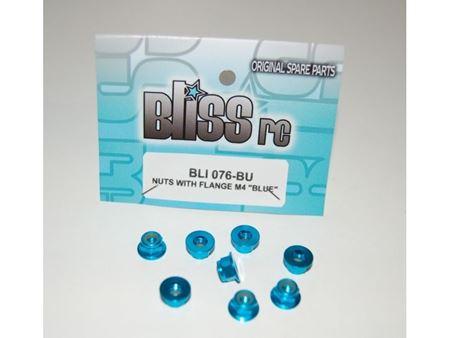 Immagine di BlissRC - Dado autobloccante M4 Flangiato Blu (Pz.8)