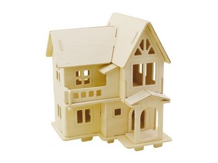 Immagine di 3Dino - Casa Europea Puzzle 3D, in Legno Naturale