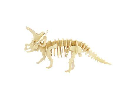 Immagine di 3Dino - Triceratopo Puzzle 3D, in Legno naturale