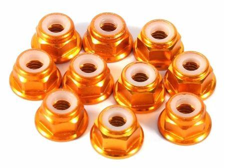Immagine di Bliss rc - Dadi autobloccanti in alluminio M3 (40 pz - Col.Orange)