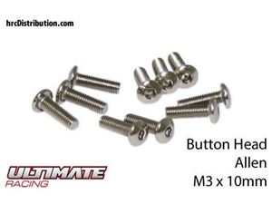 Immagine di ULTIMATE RACING - Viti  Testa Bombata Hex  M3 x 10mm (10 pz.)