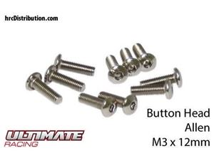 Immagine di ULTIMATE RACING - Viti  Testa Bombata Hex  M3 x 12mm (10 pz.)