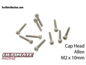 Immagine di ULTIMATE RACING - Viti  Testa Cilindrica Hex  M2 x 10mm (10 pz.)