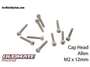 Immagine di ULTIMATE RACING - Viti  Testa Cilindrica Hex  M2 x 12mm (10 pz.)