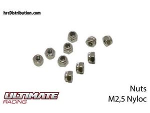 Immagine di ULTIMATE RACING - Dadi Autobloccanti Nylon M2,5 (10 pz.)