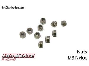 Immagine di ULTIMATE RACING - Dadi Autobloccanti Nylon M3 (10 pz.)