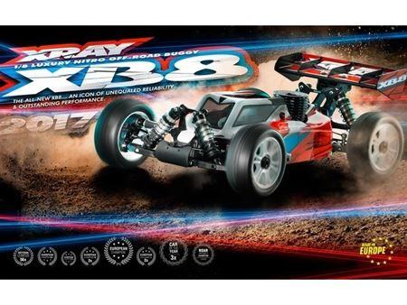 Immagine di Xray XB8 2017 1/8 Nitro Off-Road Buggy Kit Specs Car Kit 350012