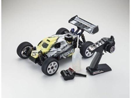 Immagine di Kyosho - Automodello a scoppio 1:8 GP 4WD New inferno neo 2.0 readyset (Bianca-Gialla)
