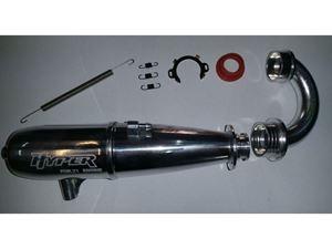 Immagine di HYPER - Marmitta completa di collettore guarnizione e molle per motori 3,5 cc FOR 21