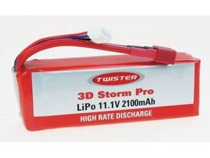 Immagine di Batteria Lipo Twister 3D Sorm pro  11.1V 2100MAH 3S 30C