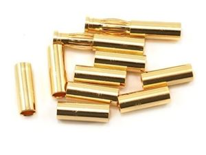 Immagine di Team Orion 4mm Gold Connettori Set (10 Tubes/2 Plug)