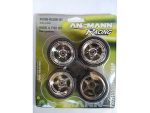 Immagine di Ansmann Racing -  SET GOMME Mini (4Pz) 1/18 ON ROAD Cerchio Cromato