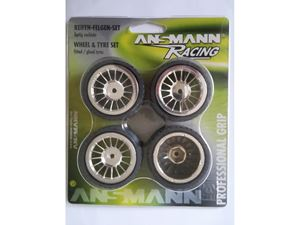 Immagine di Ansmann Racing -  SET GOMME Mini (4Pz) 1:18 ON ROAD Cerchio Cromato