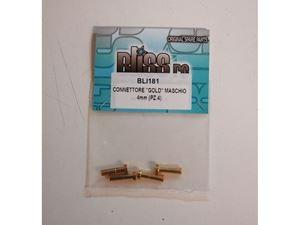 Immagine di BlissRC -  Connettore GOLD Maschio  4mm (pezzi 4)