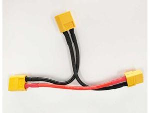 Immagine di Cavo Y 100mm 14AWG connettori XT60 serie