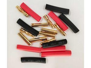 Immagine di Coppia connettori Gold 4mm x5 con termoretraibile