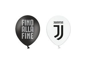 """Immagine di PALLONI LATTICE JUVENTUS 12"""" - 30 cm (confezione da 12 palloni)"""