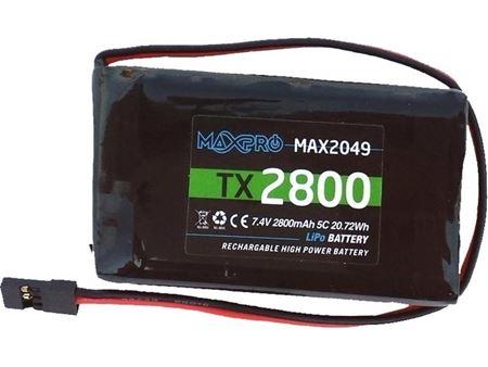 Immagine di MAXPRO LIPO 5C 7,4V 2800MAH TX